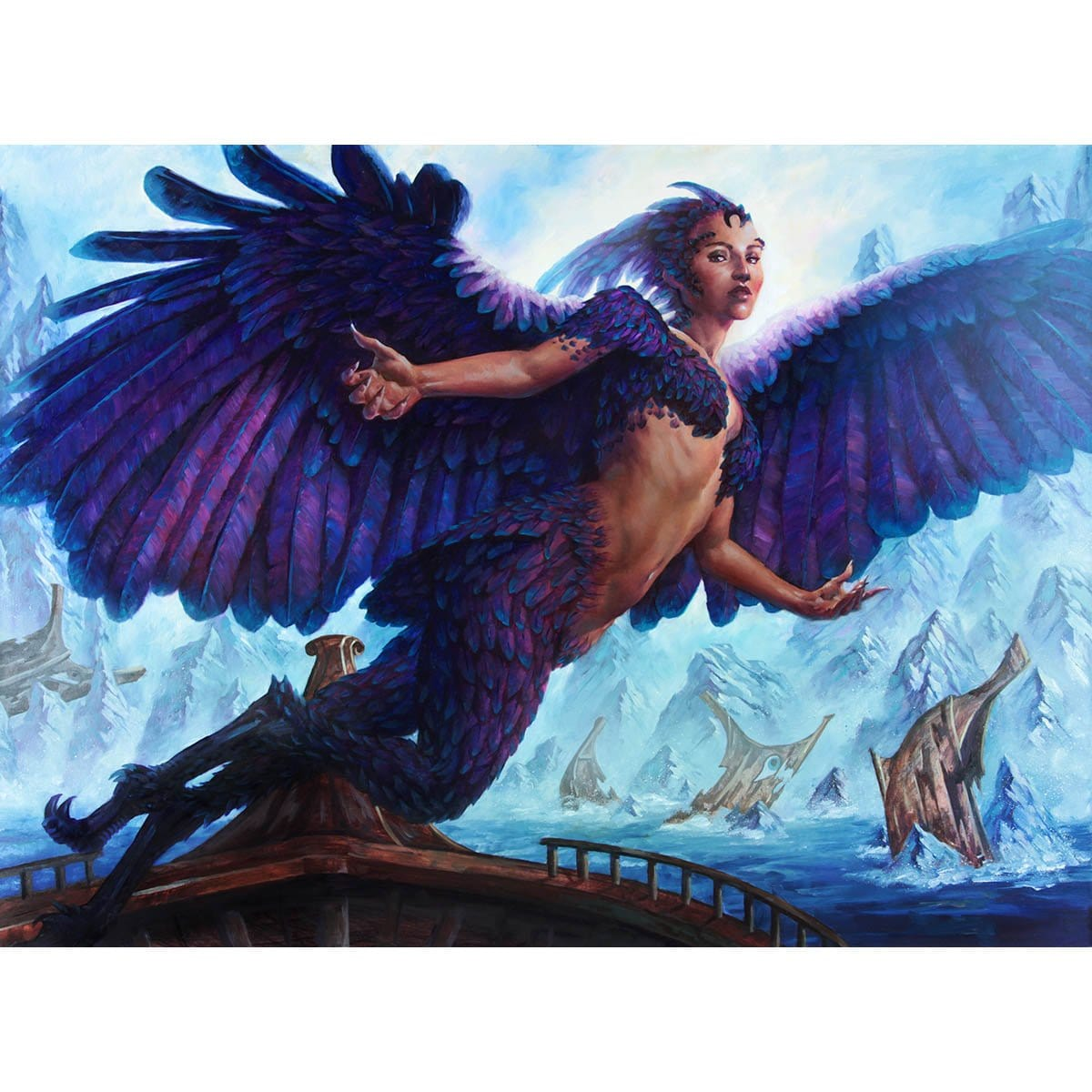 Siren of the Fanged Coast Print - Print - Original Magic Art - Accessories for Magic the Gathering and other card games
