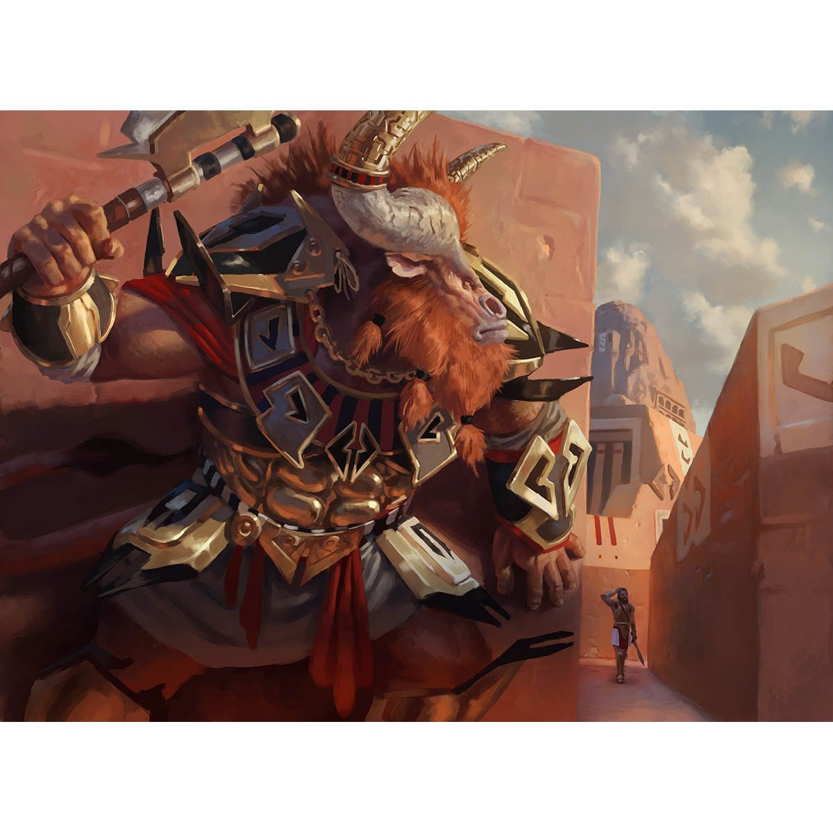 Skophos Maze-Warden Print - Print - Original Magic Art - Accessories for Magic the Gathering and other card games