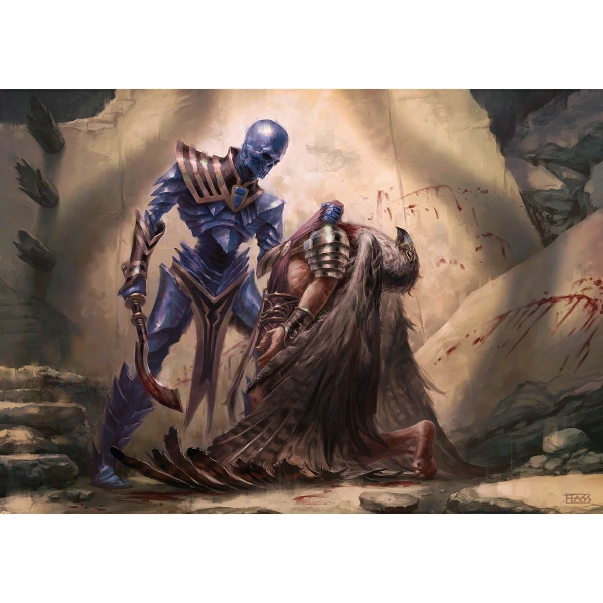 Slaughter Pact Print - Print - Original Magic Art - Accessories for Magic the Gathering and other card games