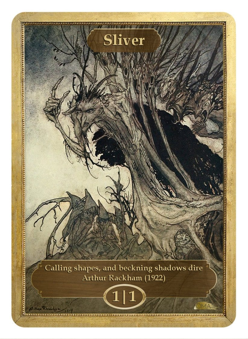 Sliver Token (1/1) by Arthur Rackham - Token - Original Magic Art - Accessories for Magic the Gathering and other card games