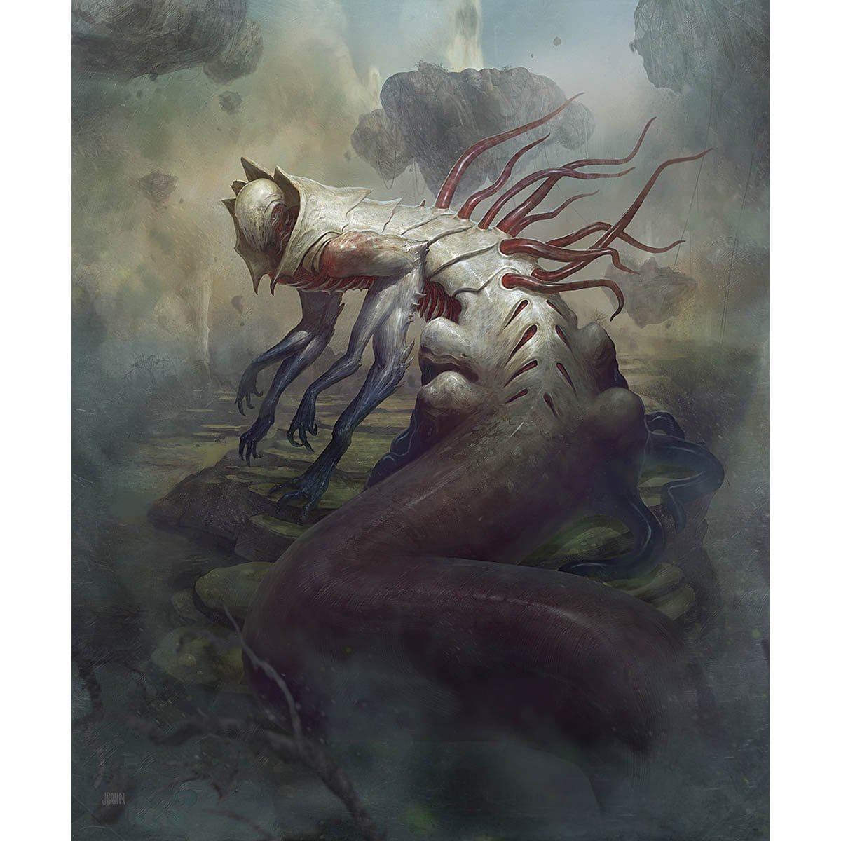 Sludge Crawler Print - Print - Original Magic Art - Accessories for Magic the Gathering and other card games