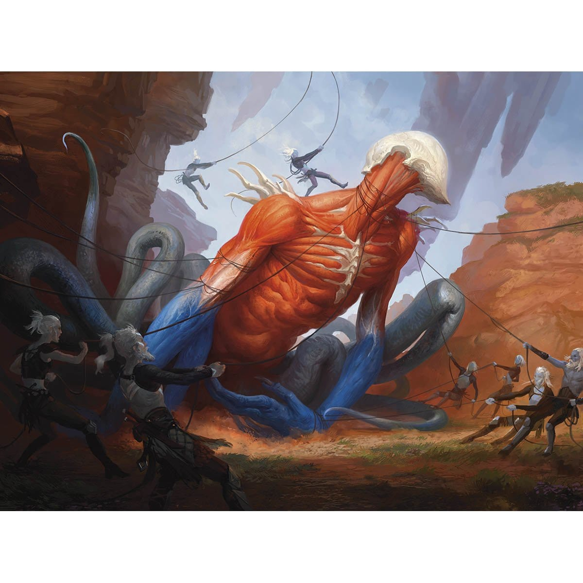 Smite the Monstrous Print - Print - Original Magic Art - Accessories for Magic the Gathering and other card games