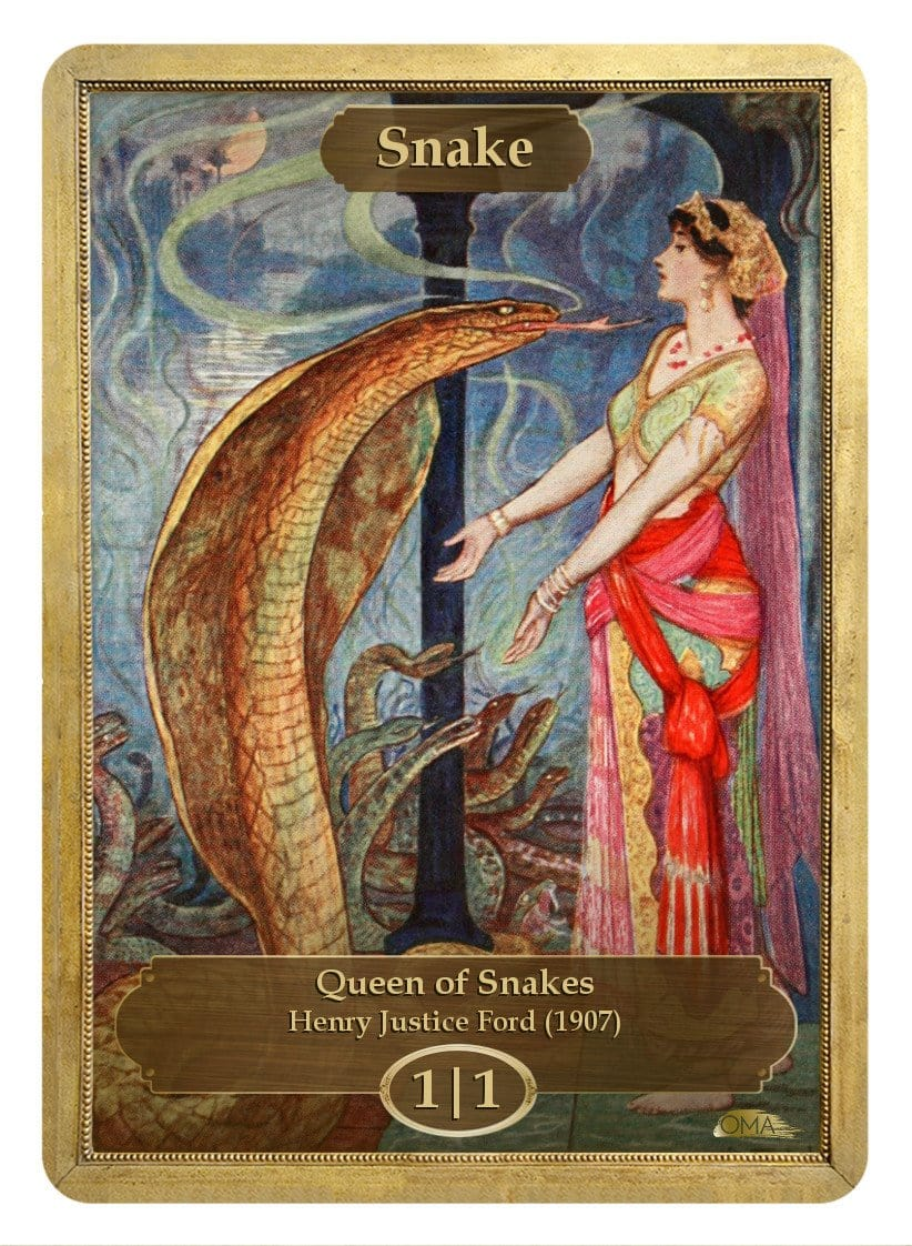 Snake Token (1/1) by Henry Justice Ford - Token - Original Magic Art - Accessories for Magic the Gathering and other card games