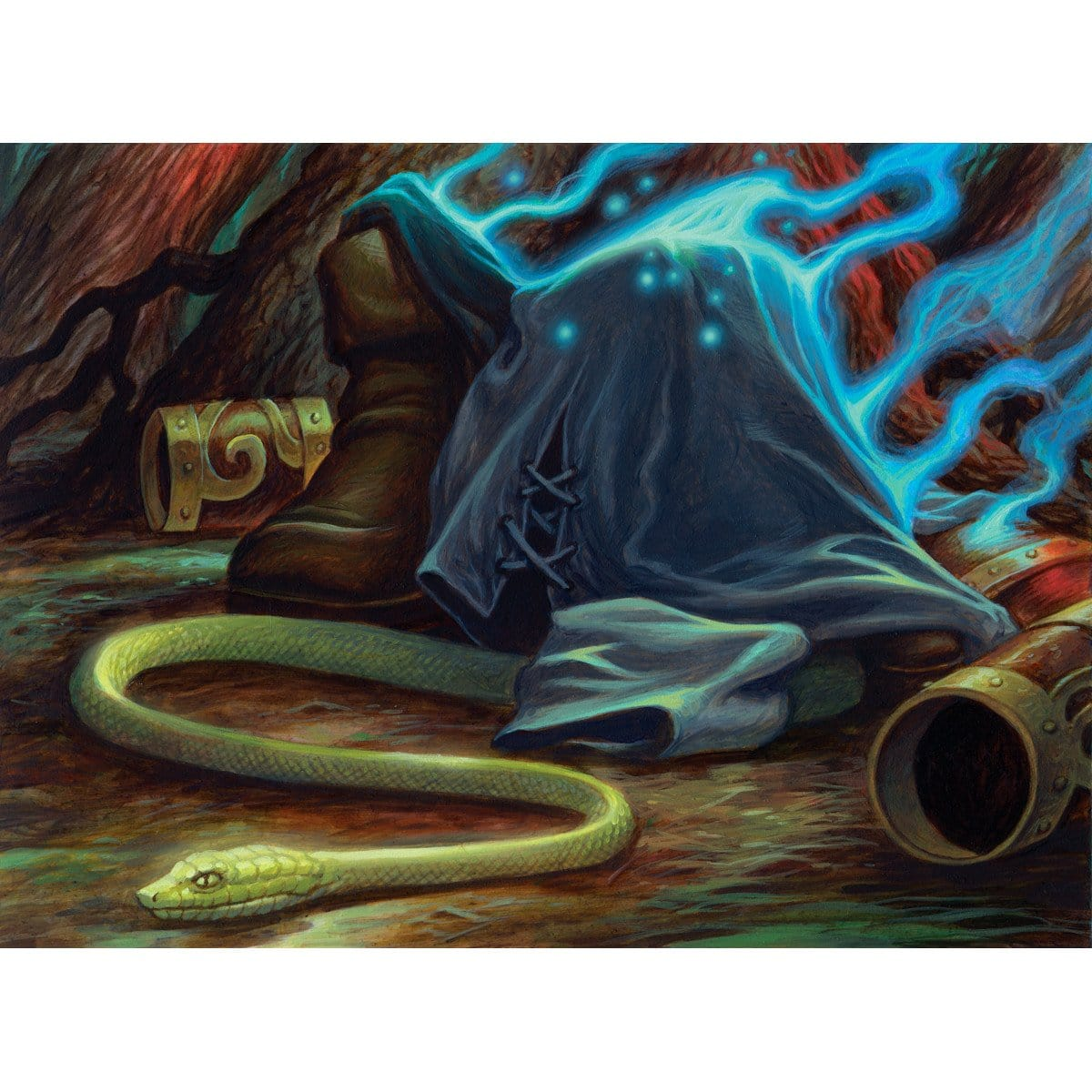 Snakeform Print - Print - Original Magic Art - Accessories for Magic the Gathering and other card games