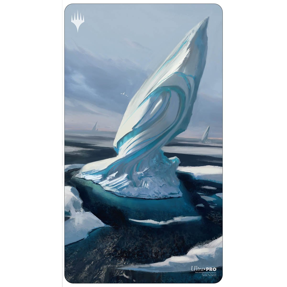 Snow-Covered Island Playmat - Playmat - Original Magic Art - Accessories for Magic the Gathering and other card games
