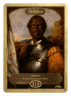 Soldier Token (2/2 - Vigilance) by William Mulready - Token - Original Magic Art - Accessories for Magic the Gathering and other card games