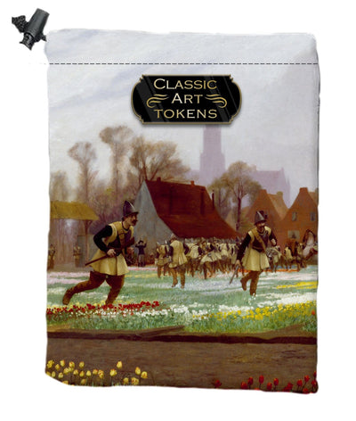 Soldier Dice Bag by Jean-Léon Gérôme - Dice Bag - Original Magic Art - Accessories for Magic the Gathering and other card games