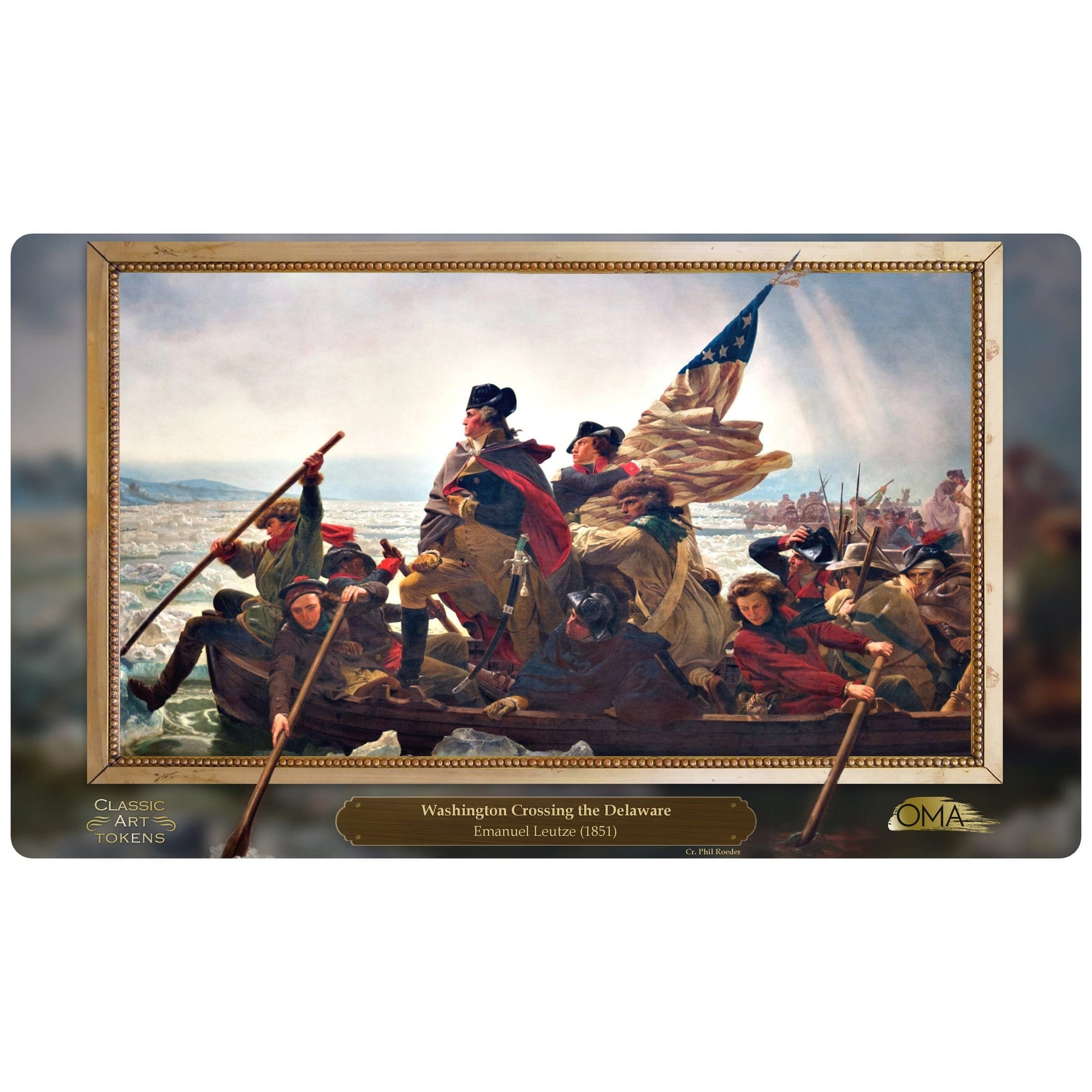 Soldier Playmat by Emanuel Leutze - Playmat - Original Magic Art - Accessories for Magic the Gathering and other card games
