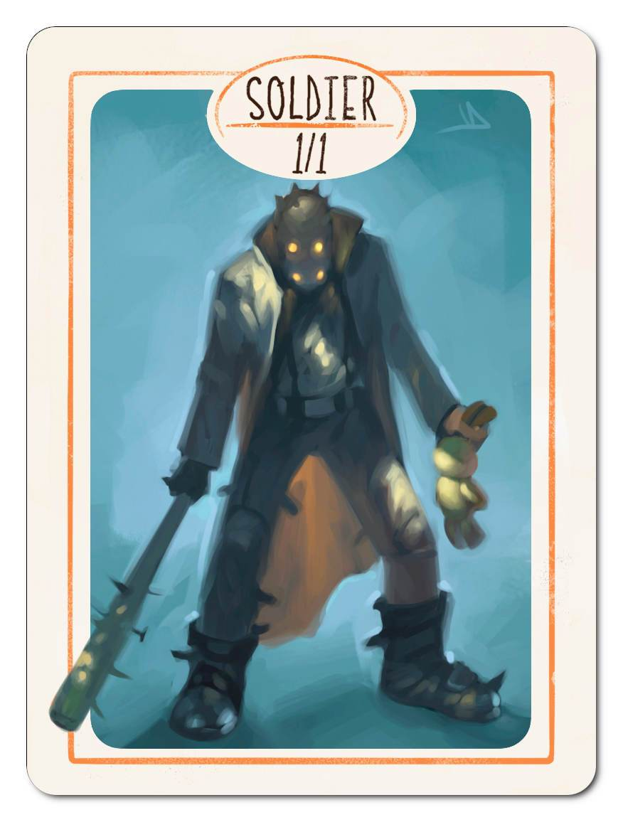Soldier Token (1/1) by Victor Adame Minguez - Token - Original Magic Art - Accessories for Magic the Gathering and other card games