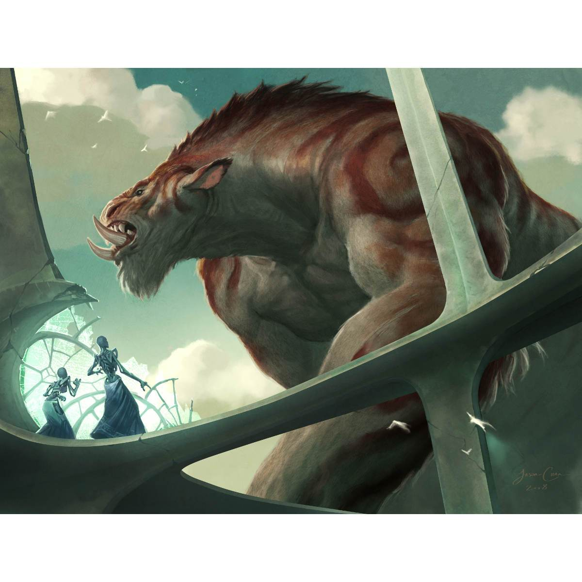 Spellbreaker Behemoth Print - Print - Original Magic Art - Accessories for Magic the Gathering and other card games
