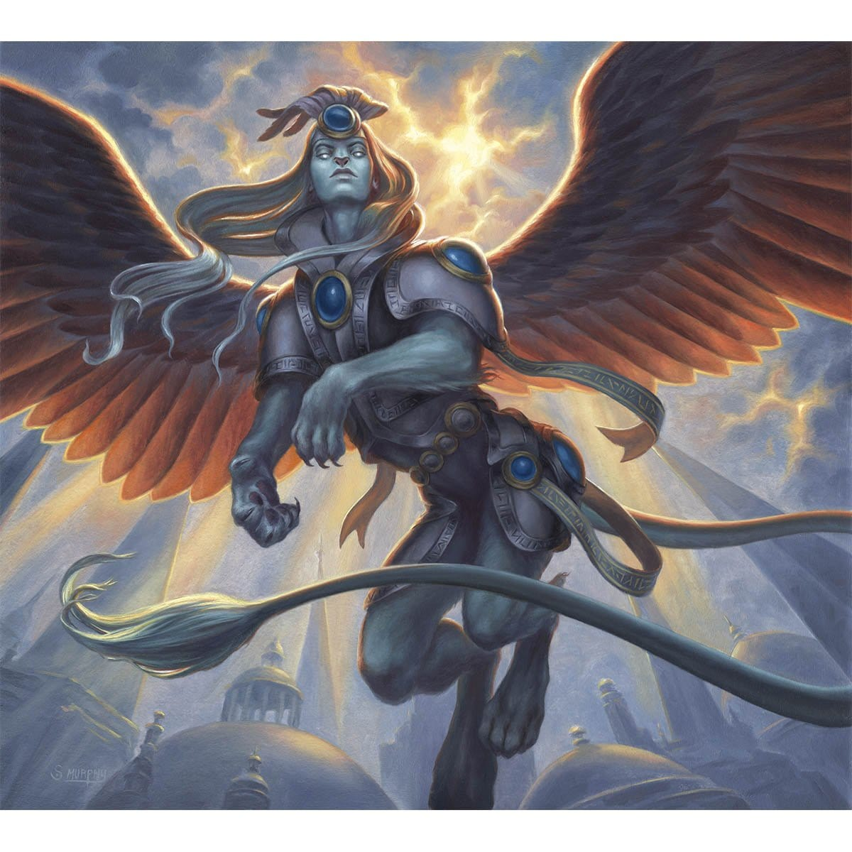Sphinx Token Print - Print - Original Magic Art - Accessories for Magic the Gathering and other card games