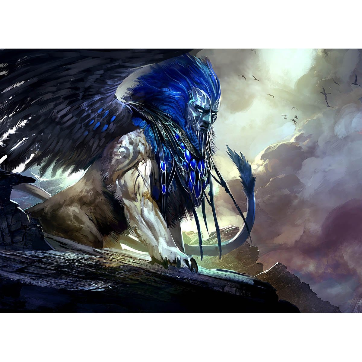 Sphinx of Uthuun Print - Print - Original Magic Art - Accessories for Magic the Gathering and other card games