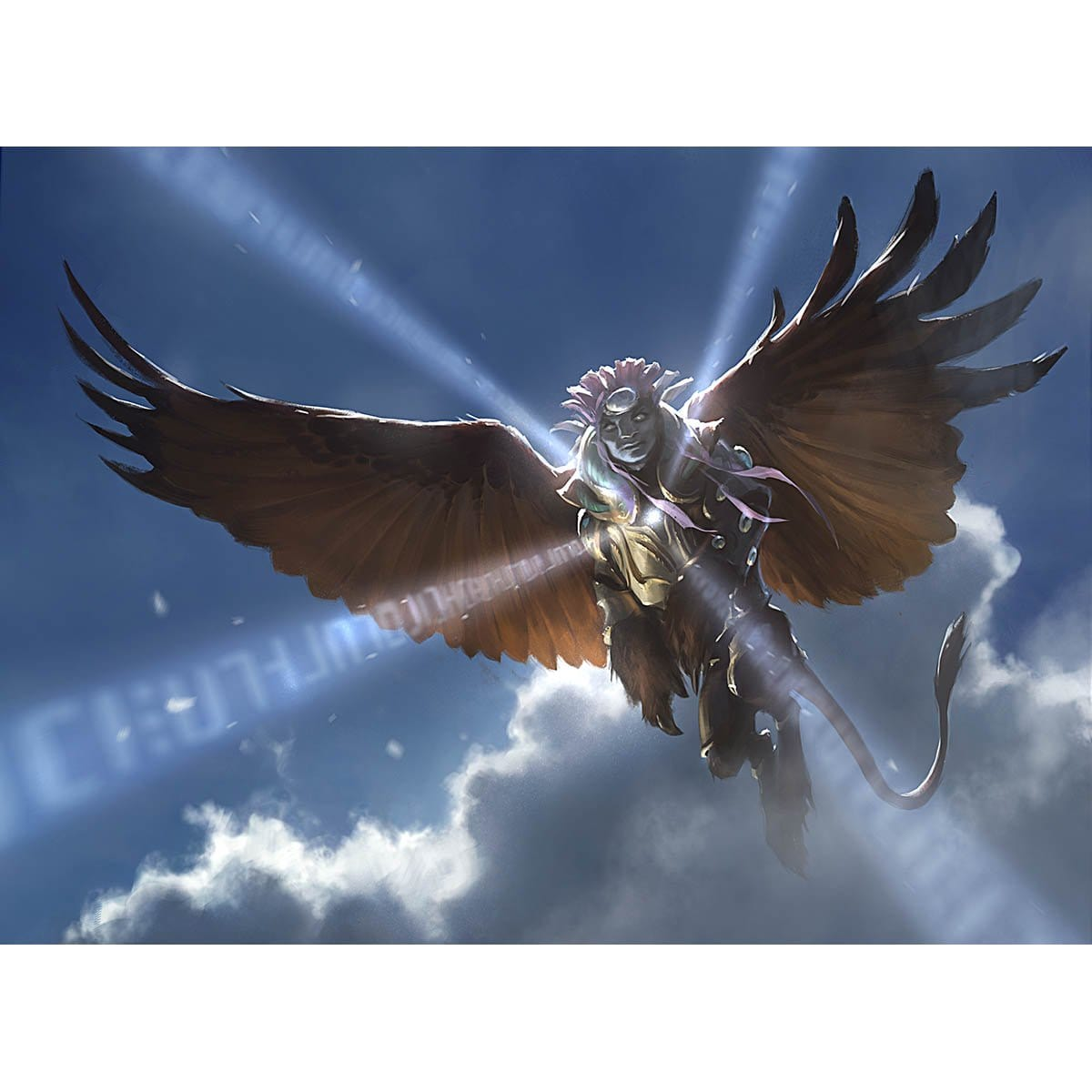 Sphinx's Revelation Print - Print - Original Magic Art - Accessories for Magic the Gathering and other card games