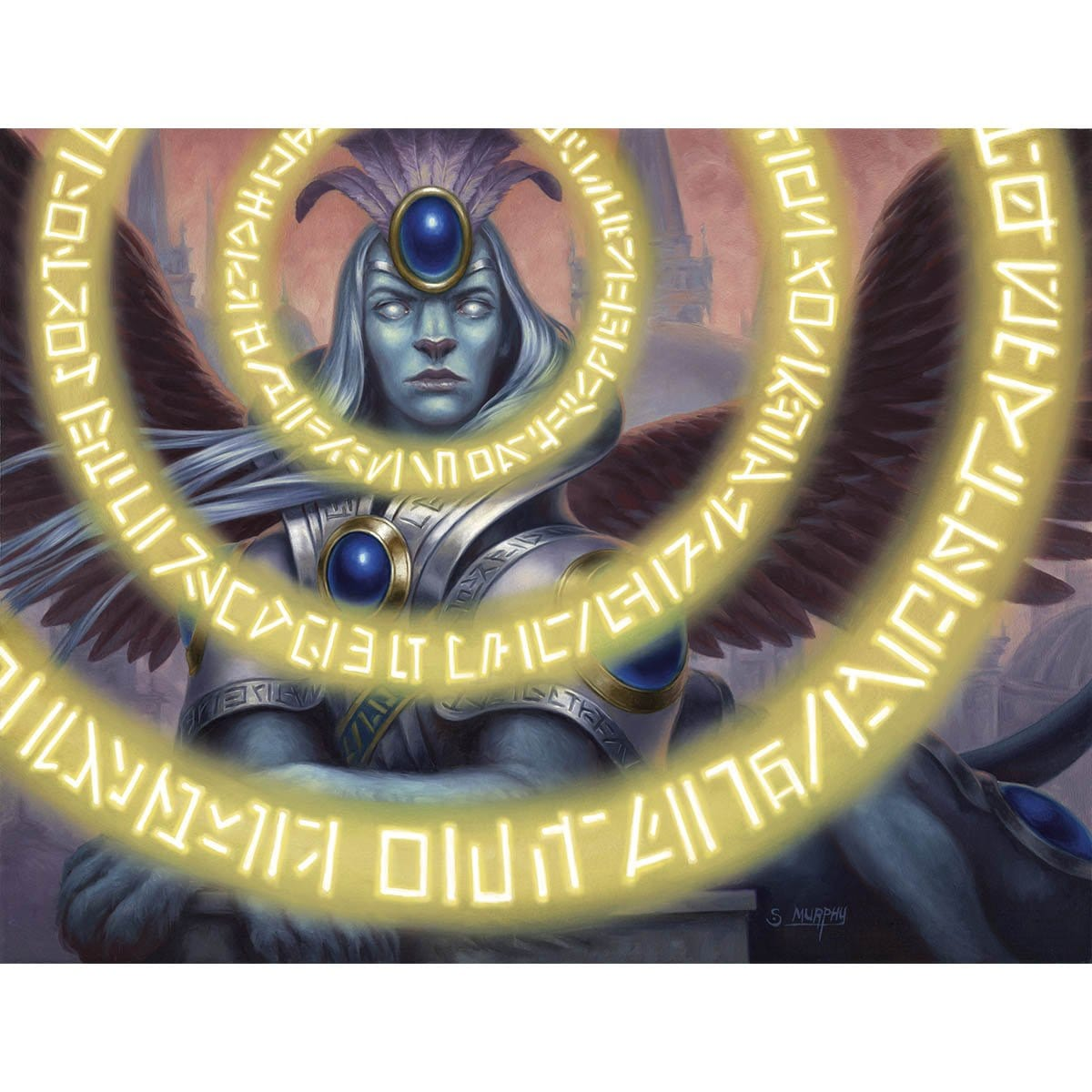 Sphinx's Insight Print - Print - Original Magic Art - Accessories for Magic the Gathering and other card games
