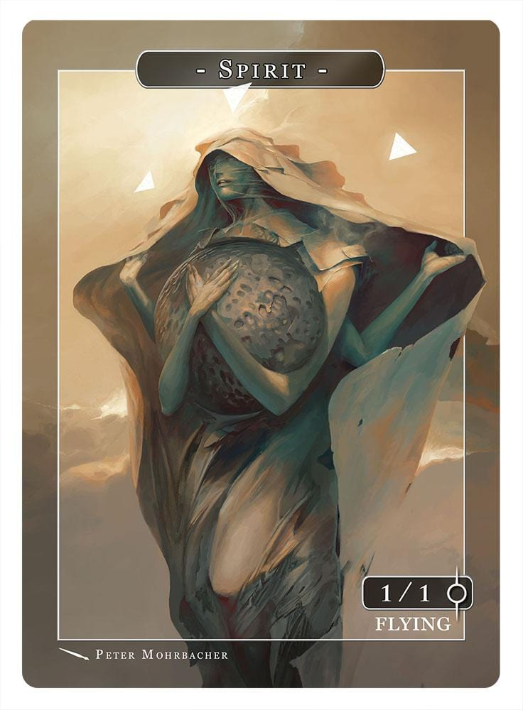 Spirit Token (1/1 - Flying) by Peter Mohrbacher