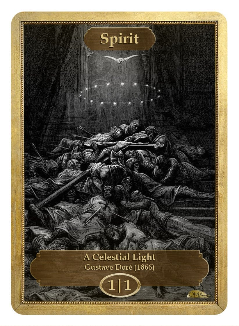 Spirit Token (1/1) by Gustave Doré - Token - Original Magic Art - Accessories for Magic the Gathering and other card games