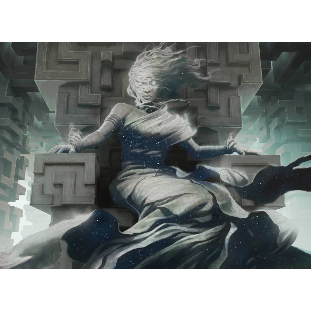 Spirit of the Labyrinth Print - Print - Original Magic Art - Accessories for Magic the Gathering and other card games