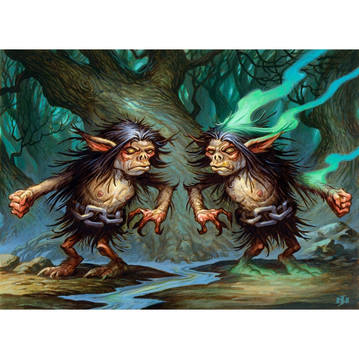 Spitting Image Print - Print - Original Magic Art - Accessories for Magic the Gathering and other card games