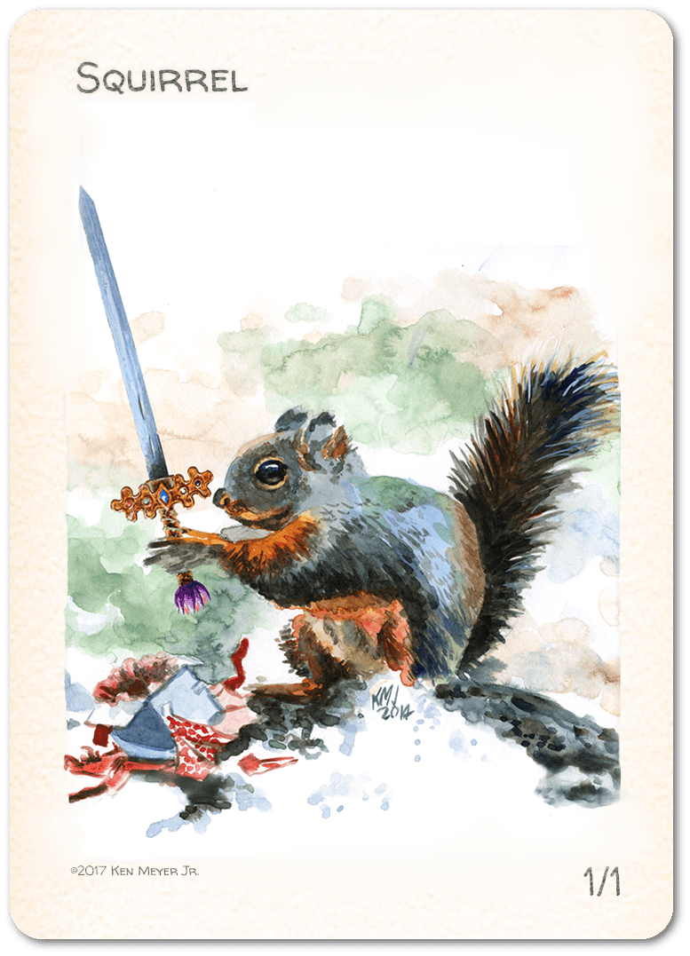 Squirrel Token (1/1) by Ken Meyer Jr.