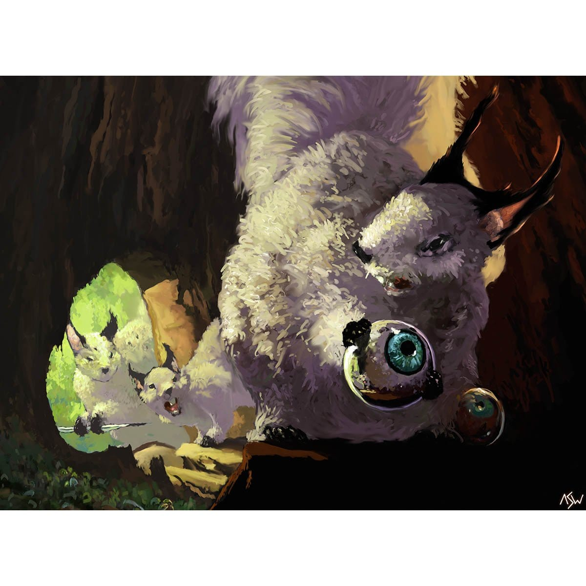 Squirrel's Nest Print - Print - Original Magic Art - Accessories for Magic the Gathering and other card games