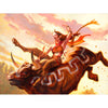 Stampede Rider Print - Print - Original Magic Art - Accessories for Magic the Gathering and other card games