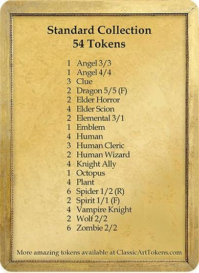 Standard Token Collection - Marble Edition - Token Set - Original Magic Art - Accessories for Magic the Gathering and other card games