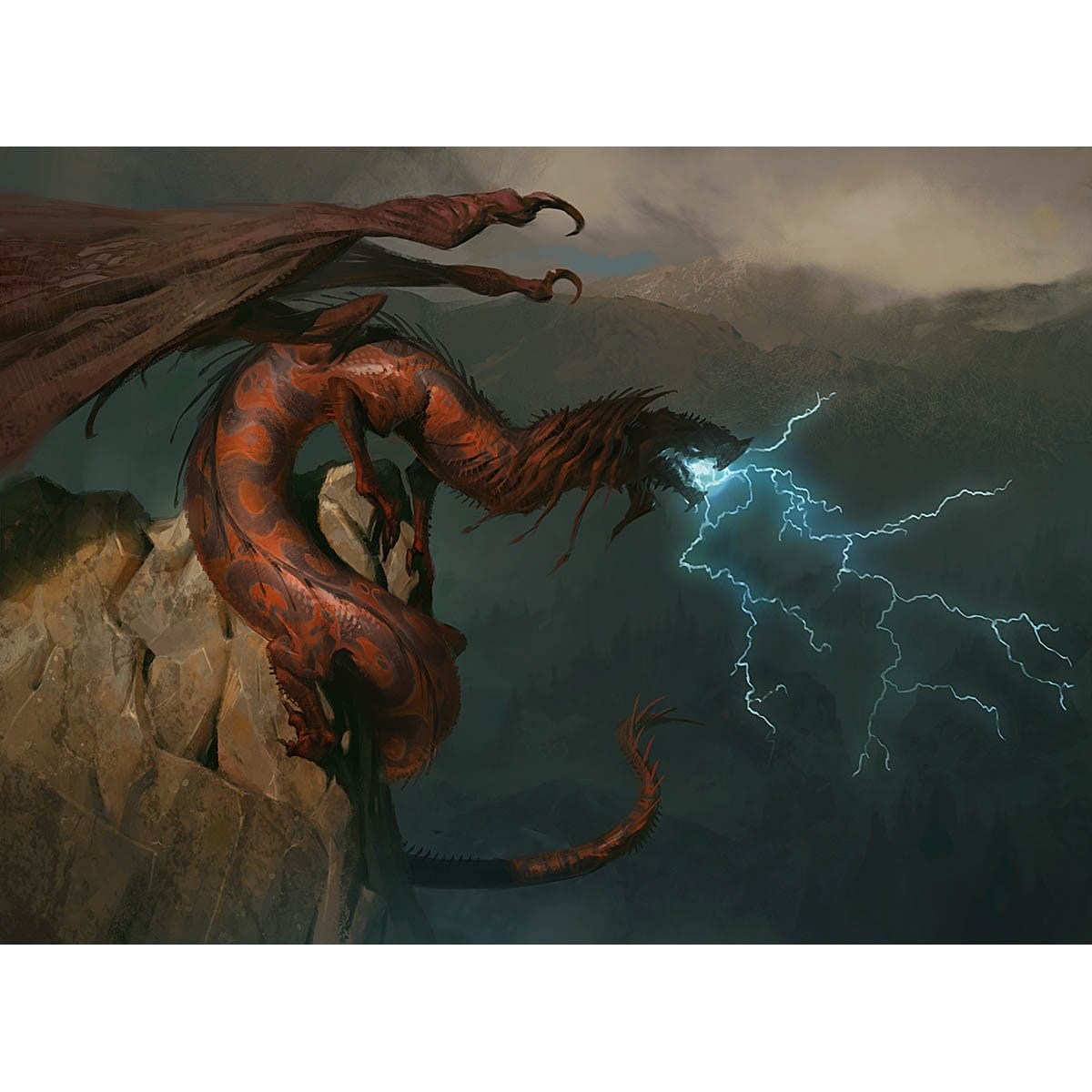 Stormbreath Dragon Print - Print - Original Magic Art - Accessories for Magic the Gathering and other card games