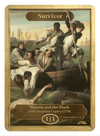 Survivor Token (1/1) by John Singleton Copley - Token - Original Magic Art - Accessories for Magic the Gathering and other card games