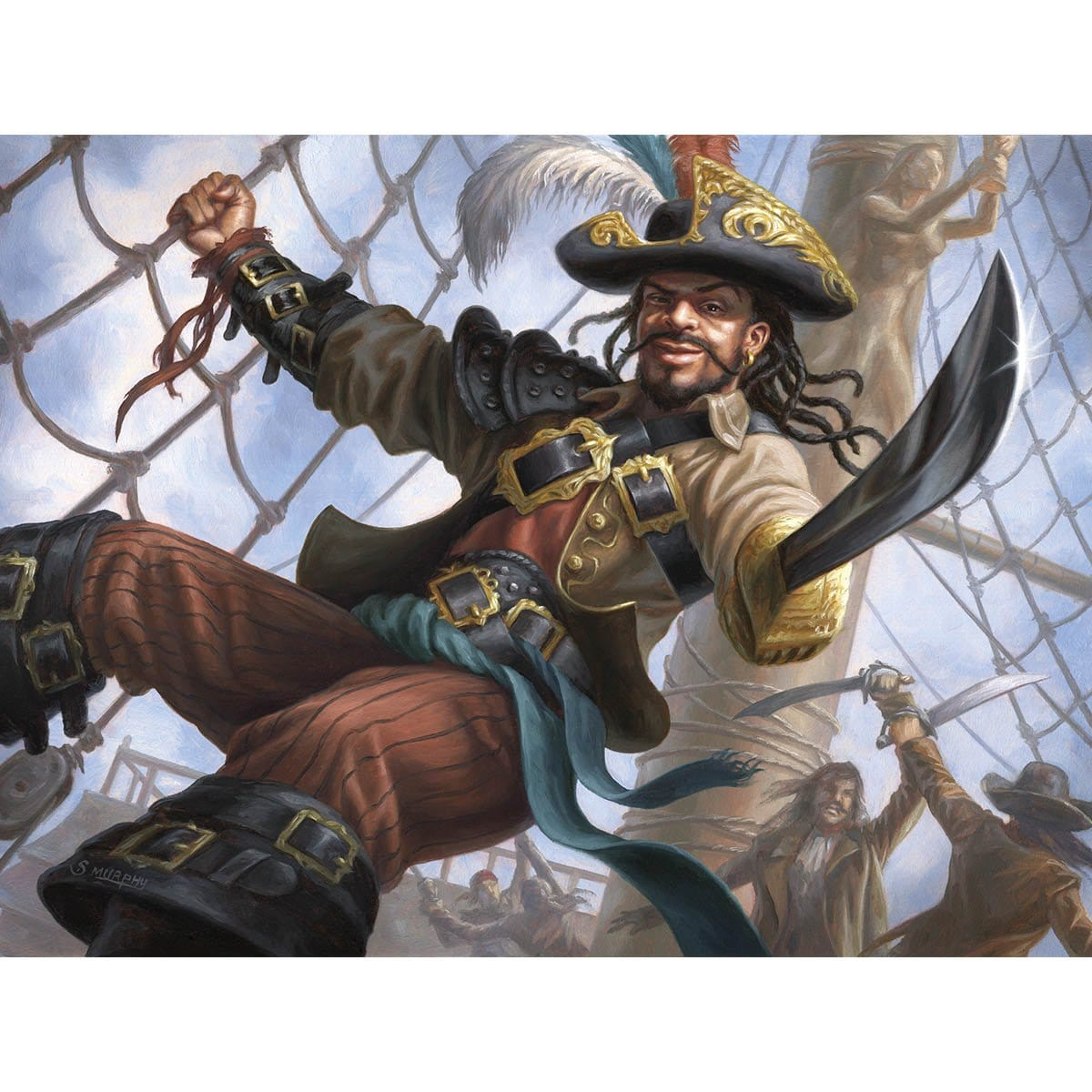 Swaggering Corsair Print - Print - Original Magic Art - Accessories for Magic the Gathering and other card games