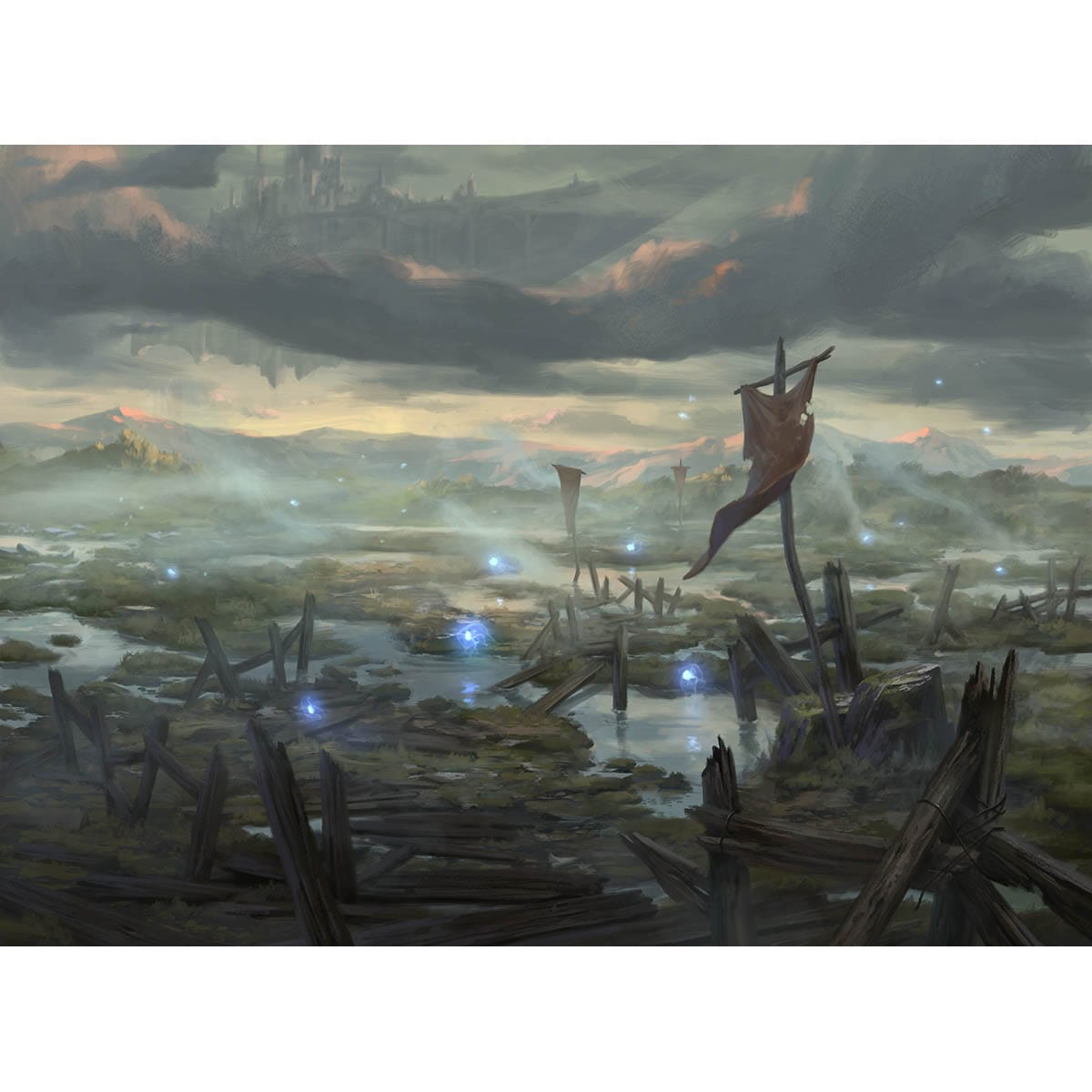 Swamp (Throne of Eldraine) Print - Print - Original Magic Art - Accessories for Magic the Gathering and other card games