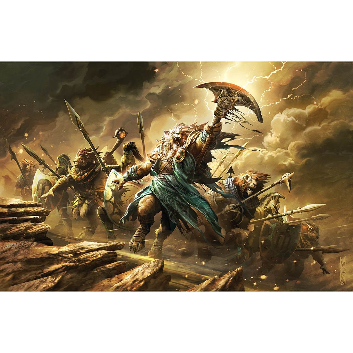 Ajani's Presence Print - Print - Original Magic Art - Accessories for Magic the Gathering and other card games