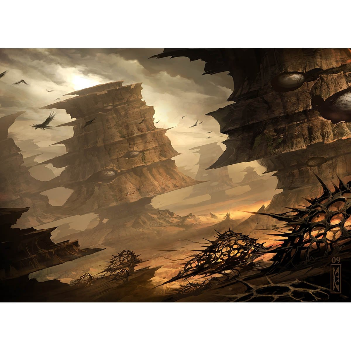Arid Mesa Print - Print - Original Magic Art - Accessories for Magic the Gathering and other card games