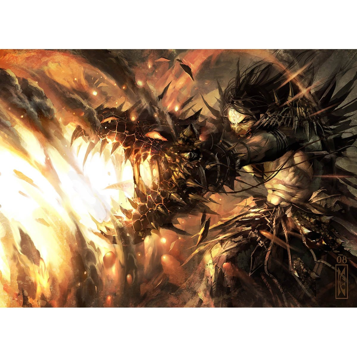Banefire Print - Print - Original Magic Art - Accessories for Magic the Gathering and other card games