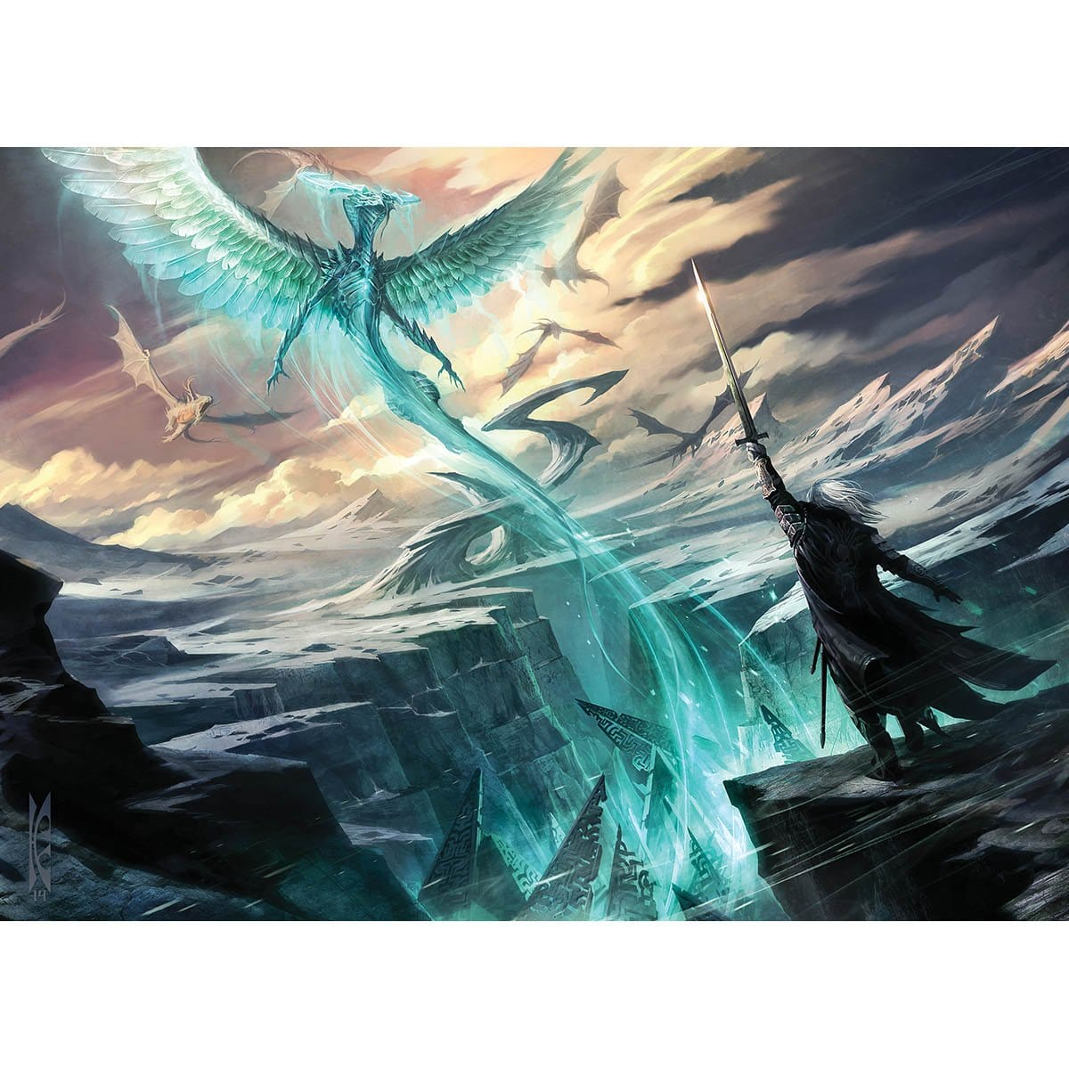Haven of the Spirit Dragon Print - Print - Original Magic Art - Accessories for Magic the Gathering and other card games
