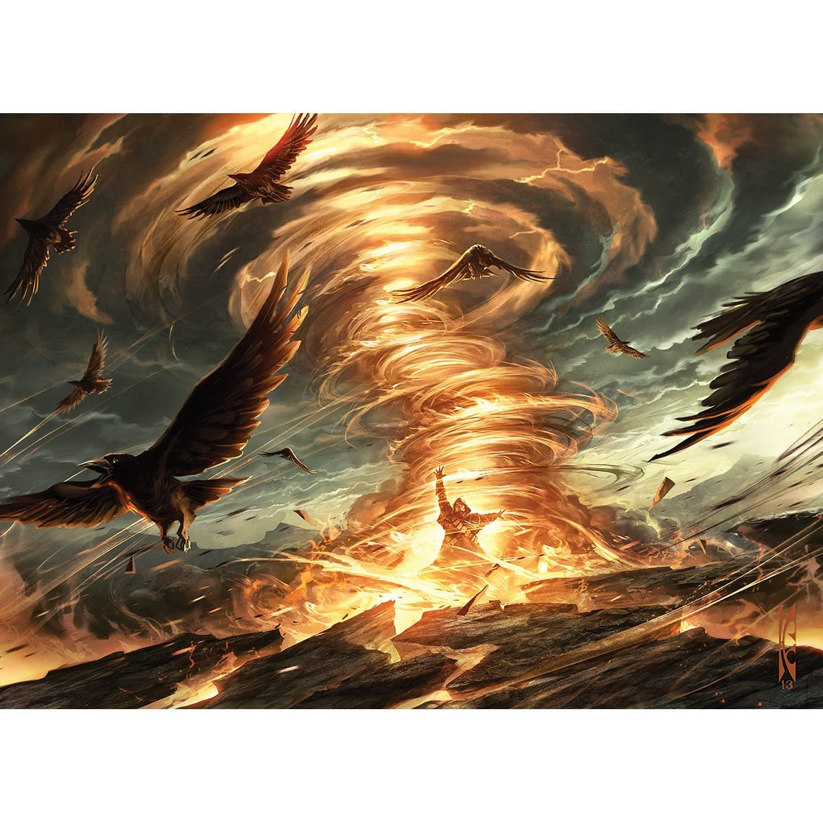 Firespout Print - Print - Original Magic Art - Accessories for Magic the Gathering and other card games