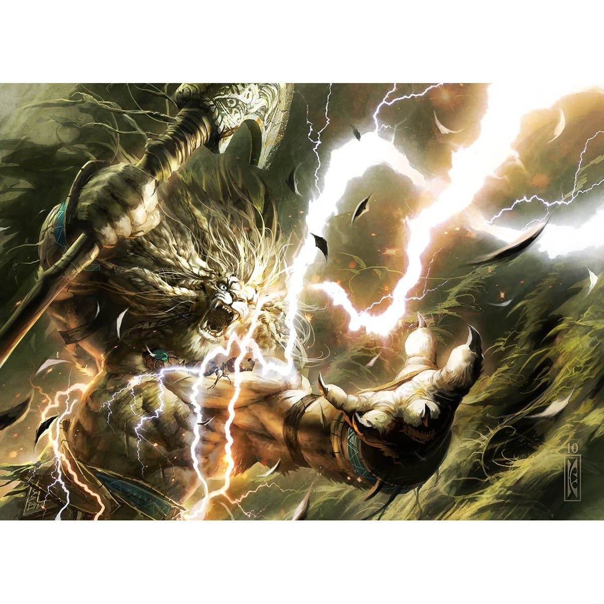 Lightning Helix Print - Print - Original Magic Art - Accessories for Magic the Gathering and other card games