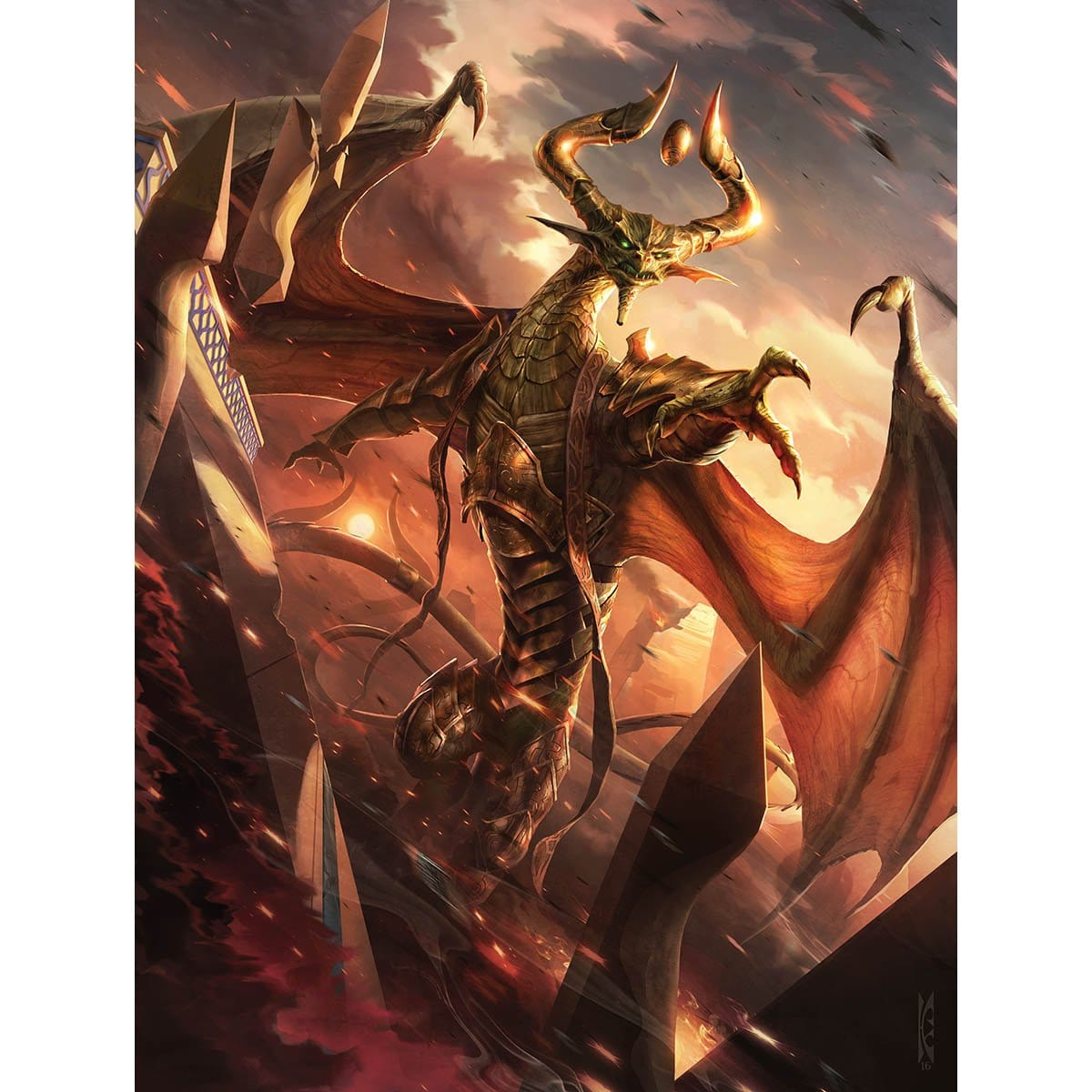 Nicol Bolas, God-Pharaoh Print - Print - Original Magic Art - Accessories for Magic the Gathering and other card games