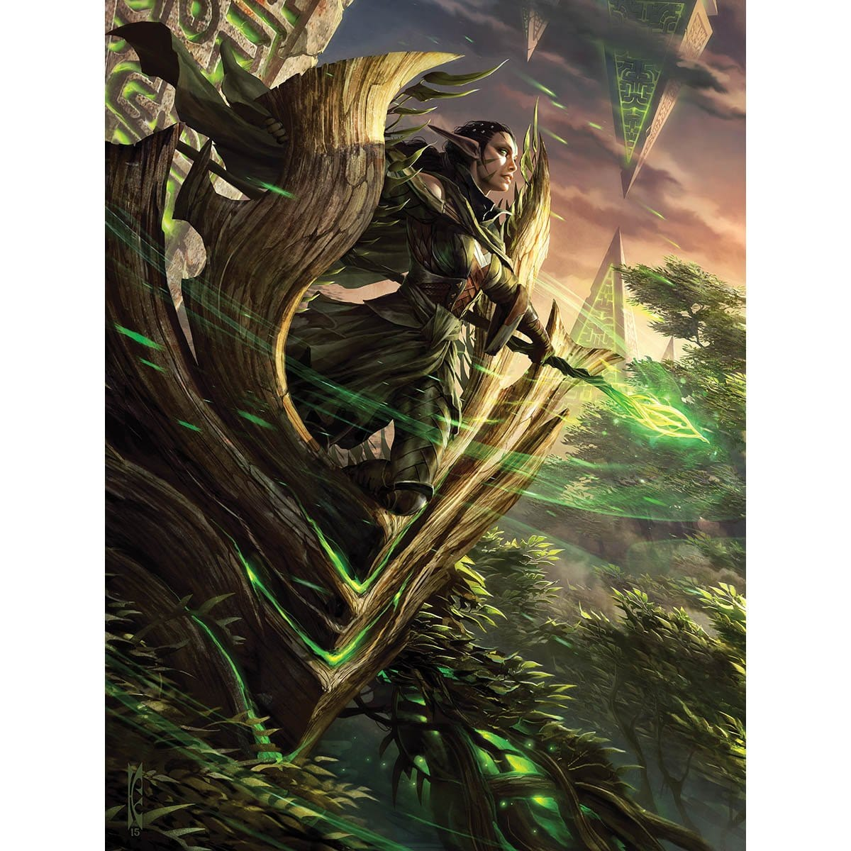 Nissa, Voice of Zendikar Print - Print - Original Magic Art - Accessories for Magic the Gathering and other card games