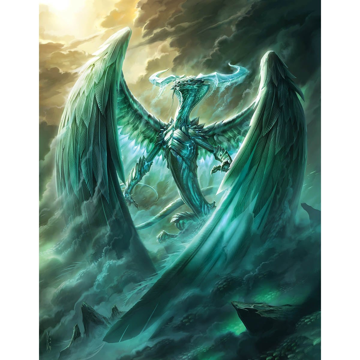 Ugin, the Spirit Dragon Print - Print - Original Magic Art - Accessories for Magic the Gathering and other card games