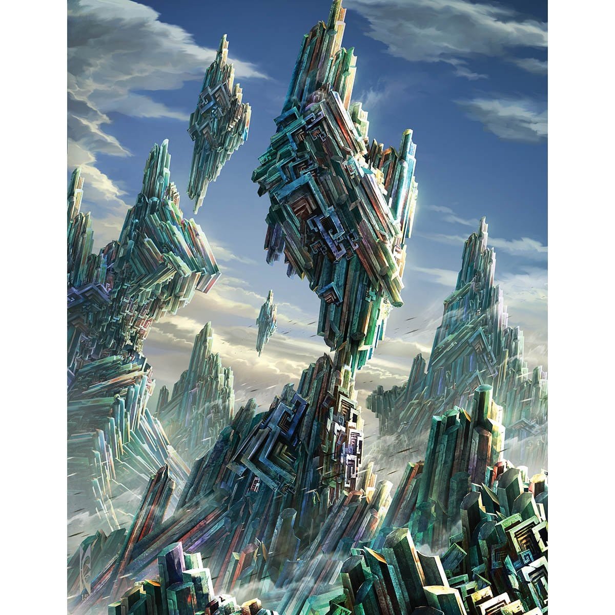 Wastes Print - Print - Original Magic Art - Accessories for Magic the Gathering and other card games