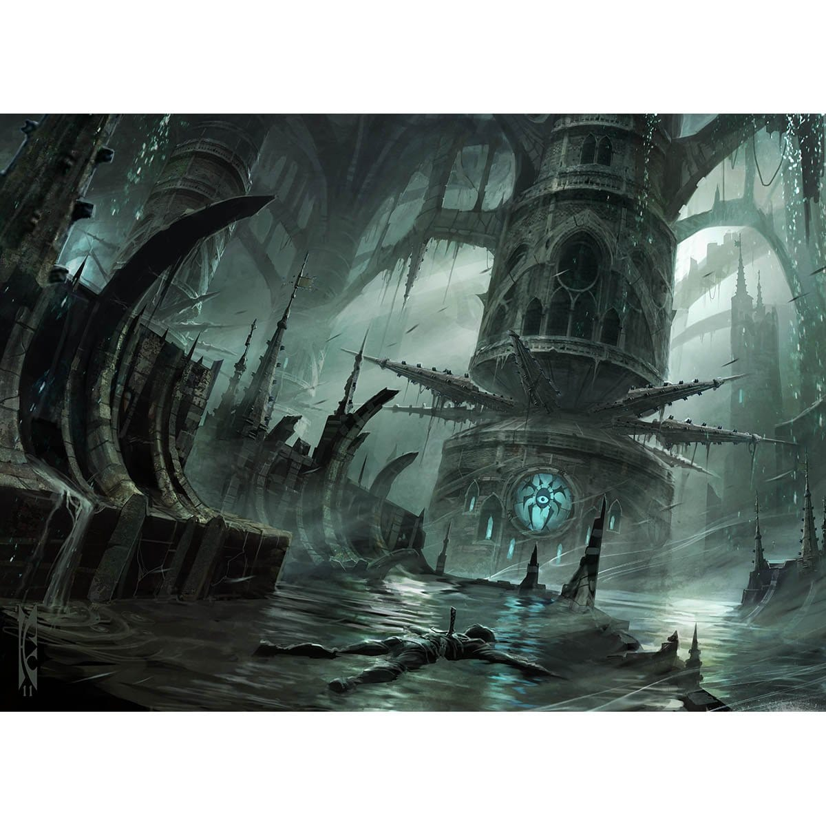 Watery Grave Print - Print - Original Magic Art - Accessories for Magic the Gathering and other card games