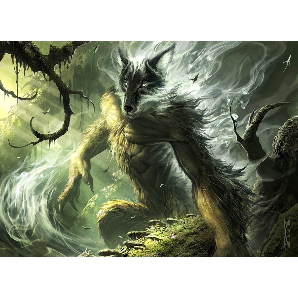Wolfir Silverheart Print - Print - Original Magic Art - Accessories for Magic the Gathering and other card games
