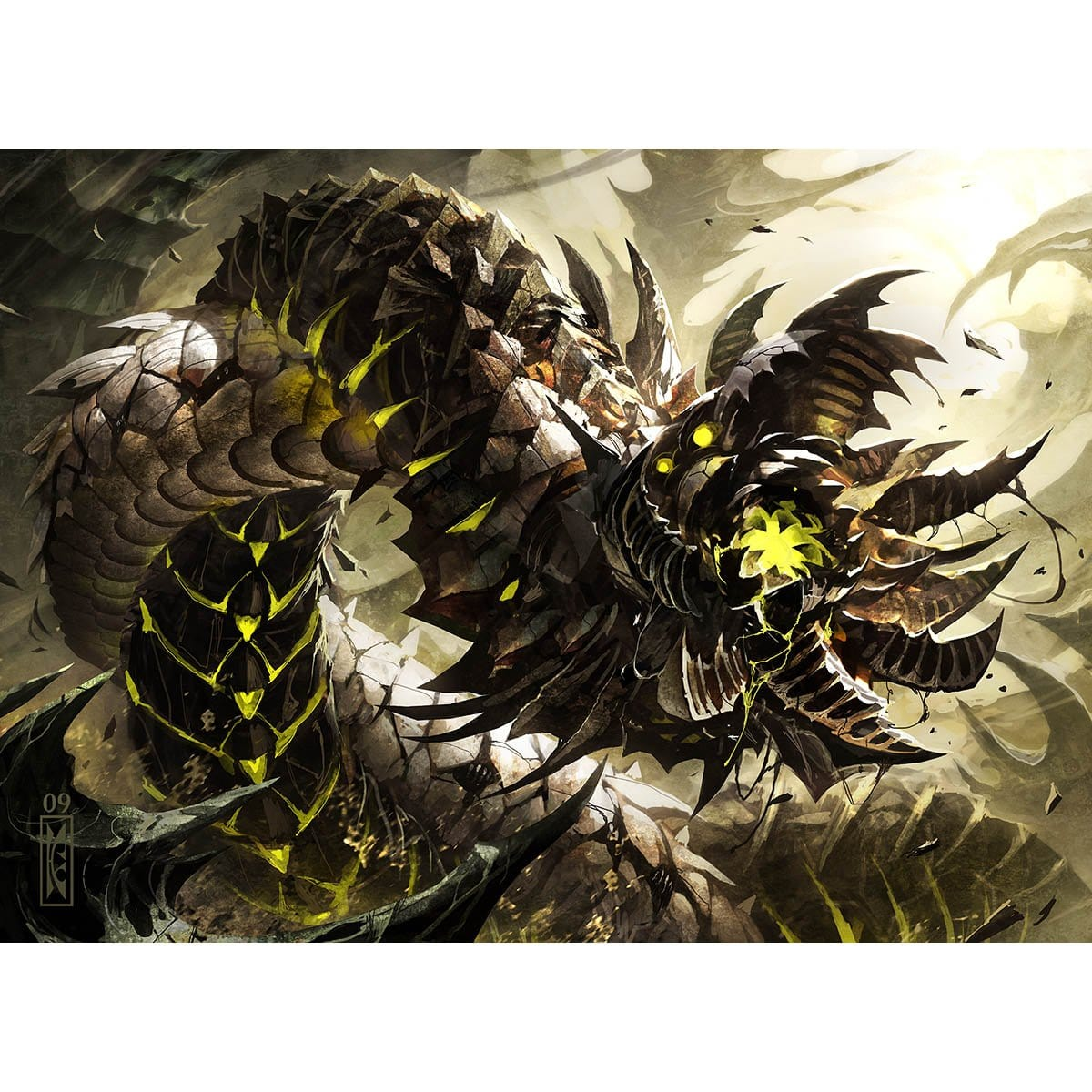 Wurmcoil Engine Print - Print - Original Magic Art - Accessories for Magic the Gathering and other card games