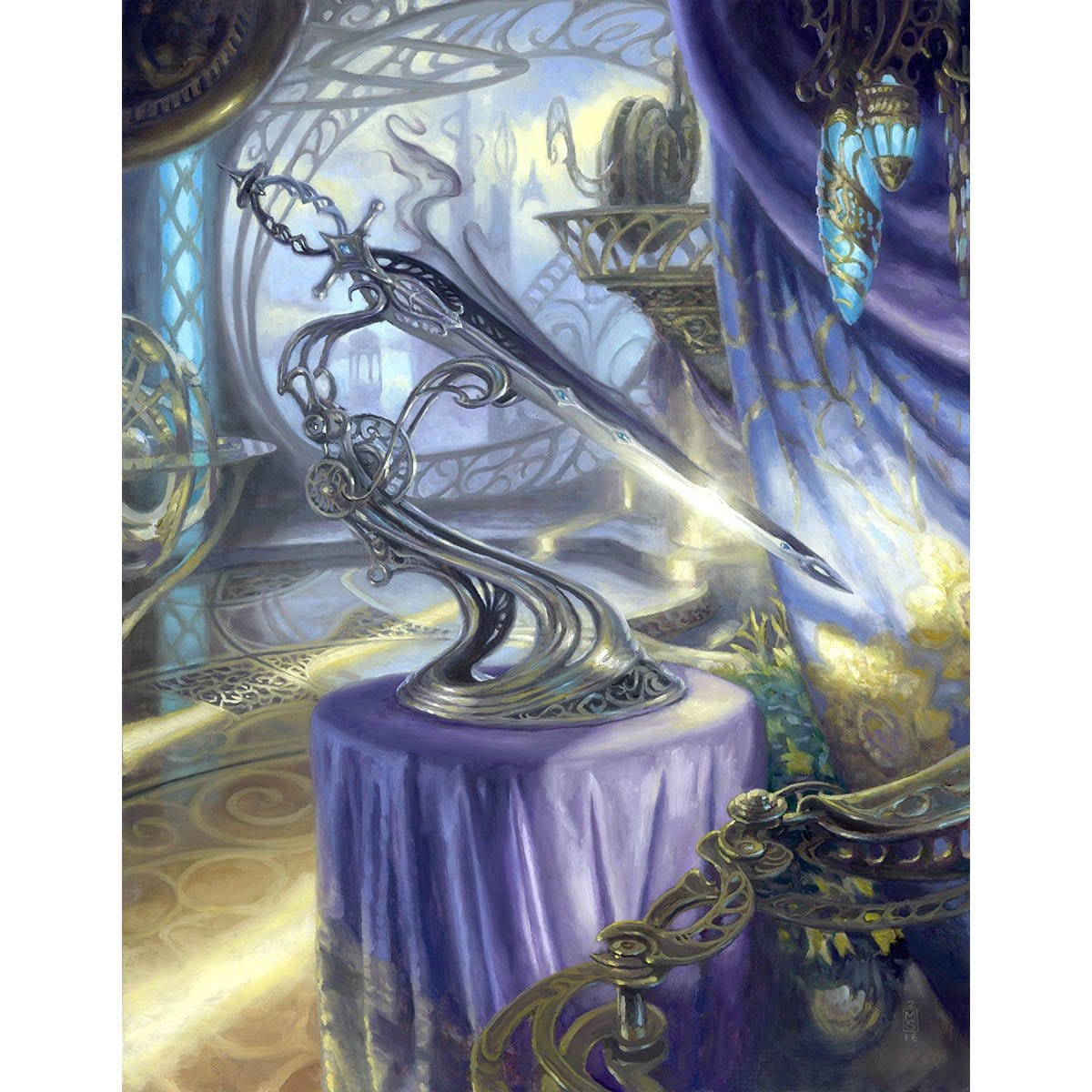 Sword of Light and Shadow Print - Print - Original Magic Art - Accessories for Magic the Gathering and other card games