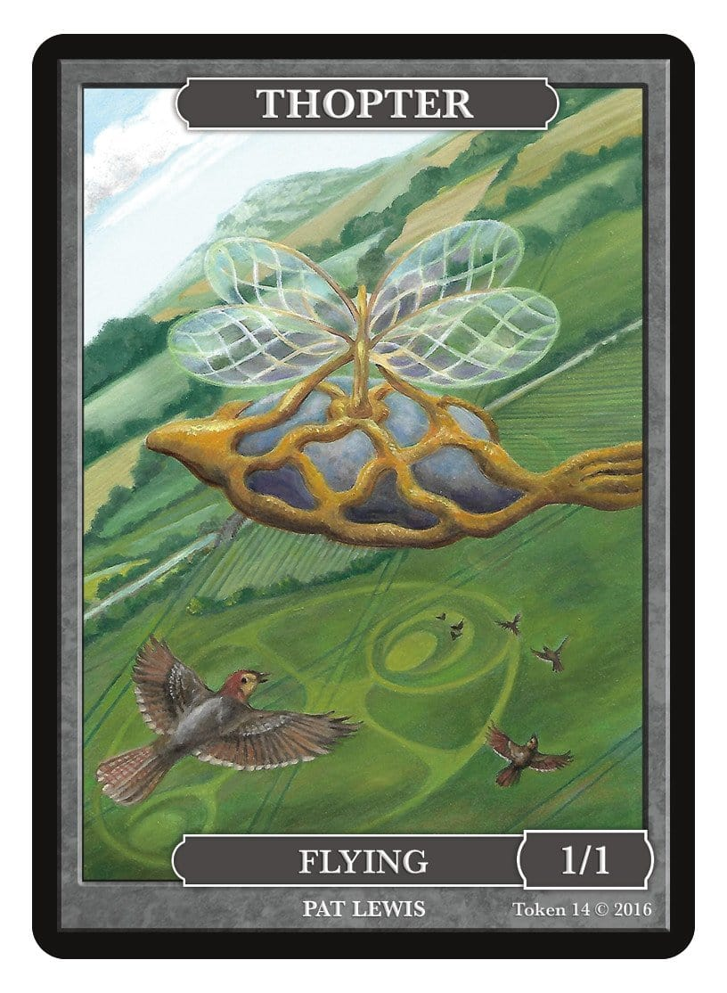 Thopter Token (1/1) by Pat Lewis - Token - Original Magic Art - Accessories for Magic the Gathering and other card games