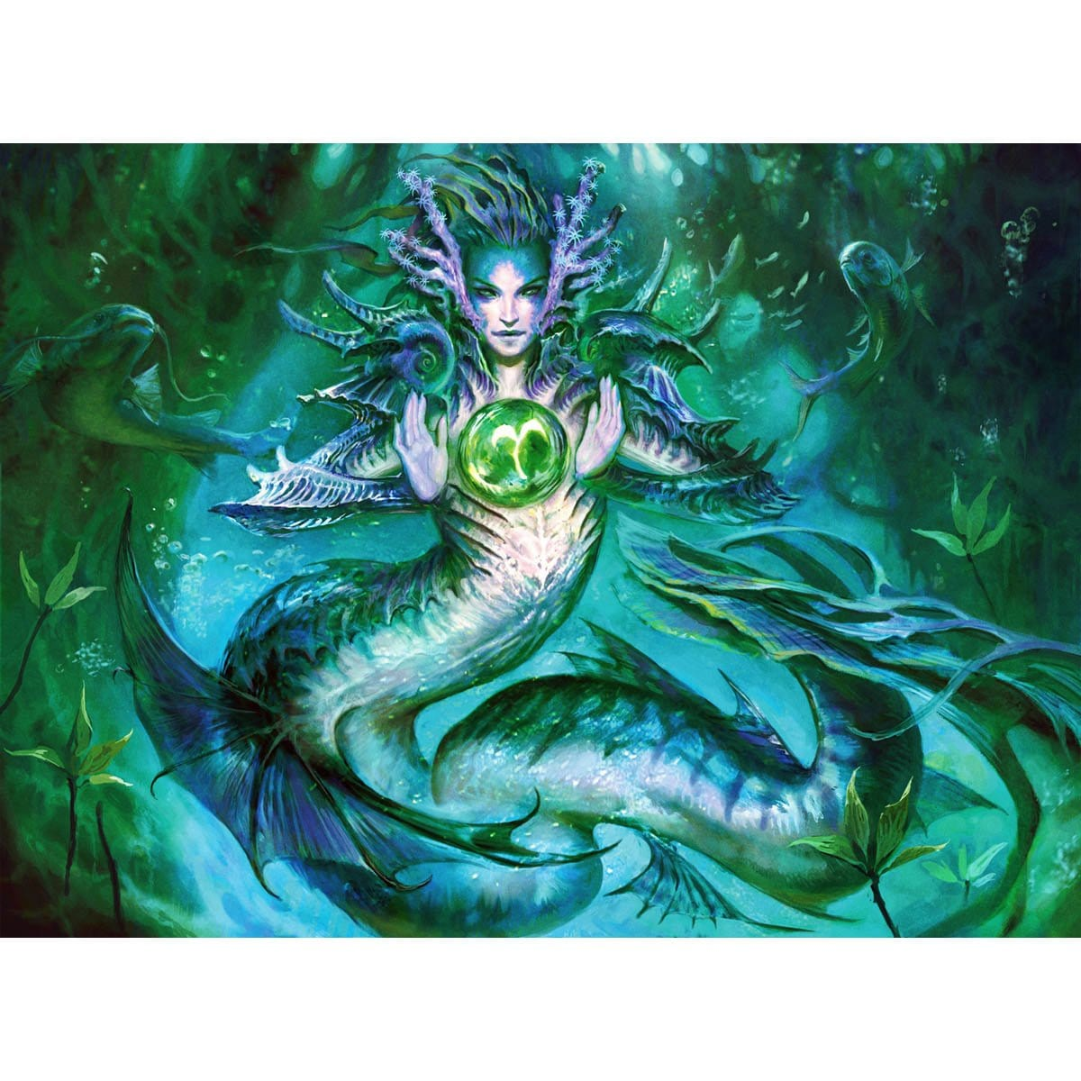 Tatyova, Benthic Druid Print - Print - Original Magic Art - Accessories for Magic the Gathering and other card games