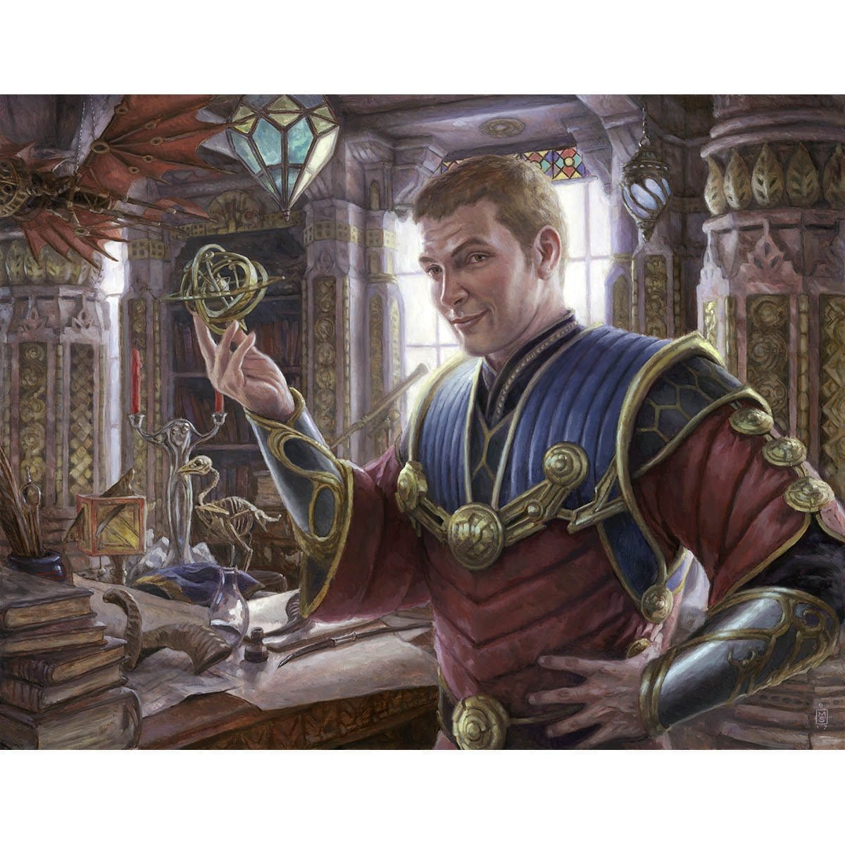 Tawnos, Urza's Apprentice Print - Print - Original Magic Art - Accessories for Magic the Gathering and other card games
