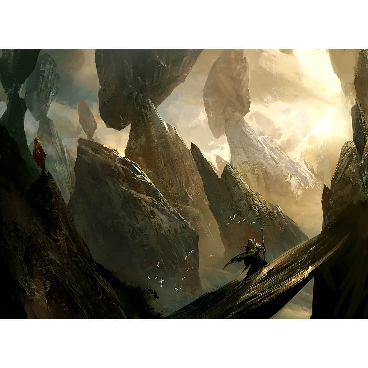 Teetering Peaks Print - Print - Original Magic Art - Accessories for Magic the Gathering and other card games