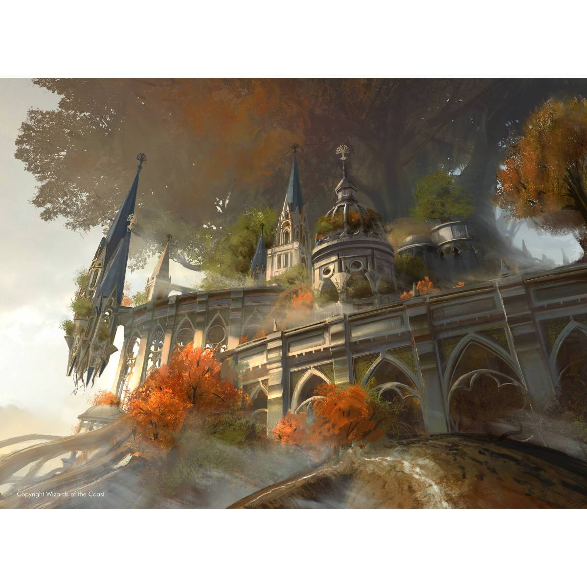 Temple Garden Print - Print - Original Magic Art - Accessories for Magic the Gathering and other card games