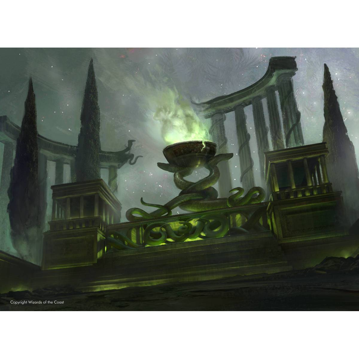 Temple of Malady Print - Print - Original Magic Art - Accessories for Magic the Gathering and other card games